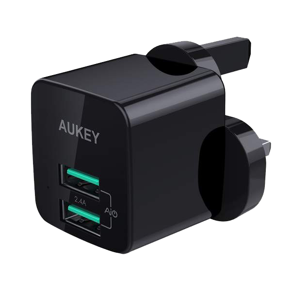 Picture of AUKEY 12W Universal Dual Port AiPower Mini Portable Travel Charger