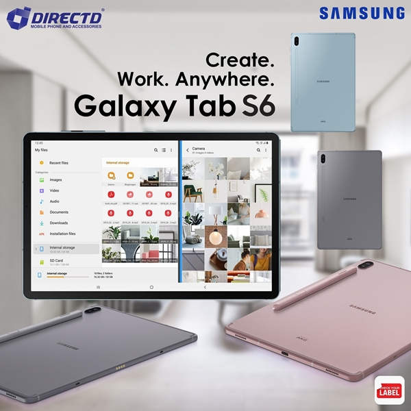 """Picture of SAMSUNG GALAXY TAB S6 (6GB RAM   128GB ROM   10.5"""" Super AMOLED   SUPPORT VOICE CALL) ORIGINAL set"""