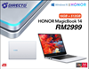 Picture of HONOR MagicBook 14 (Ryzen 5 3500U   16GB DDR4   512GB NVME SSD) + 3 FREE GIFTS
