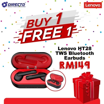 Picture of LENOVO True Wireless (TWS) Bluetooth Headset HT28 -  BUY 1 FREE 1 PROMO😱