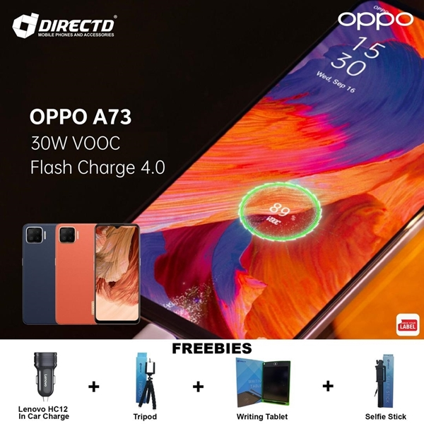 Picture of OPPO A73 (30W FAST CHARGING   128GB ROM) ORIGINAL set + 4 FREE GIFTS