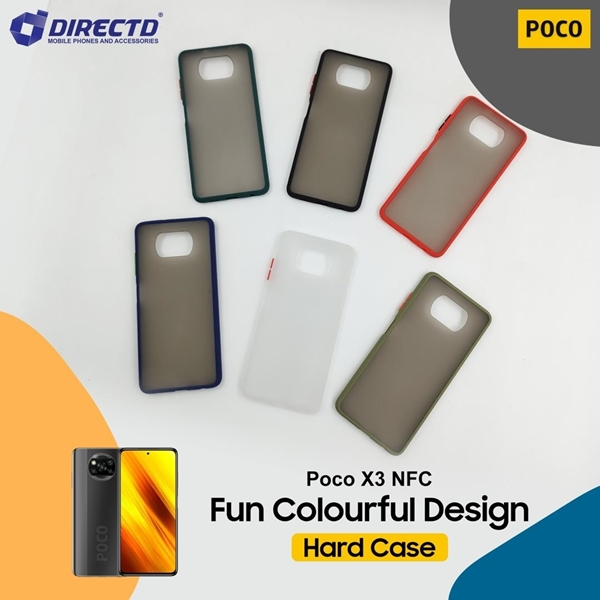 Picture of FUN Colourful Design Hard Case for POCO X3 NFC - PERFECT FITTING! Available in 6 colors