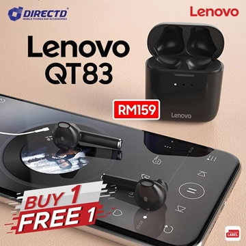 Picture of LENOVO TWS QT83 - Bluetooth 5.0 Earphones With Noise Cancelling HD Call - BUY 1 FREE 1 (RM159 get 2 pairs)
