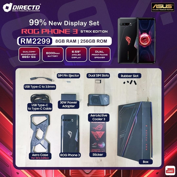 Picture of ASUS ROG Phone 3 Strix Edition (8GB RAM/128GB ROM) 99.99% NEW DISPLAY SET! COMES with 10-11 months warranty by ASUS MSIA