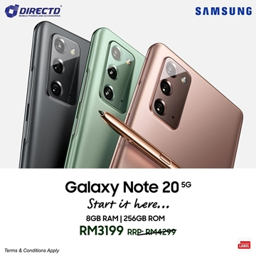 Picture of SAMSUNG Galaxy NOTE 20 (5G) ORIGINAL set by SAMSUNG Msia! LIMITED STOCK